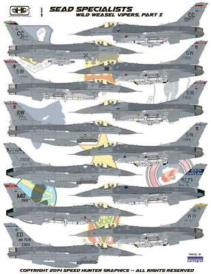 Speed Hunter Graphics 48007 1/48 decal SEAD Specialists F-16C for Tamiya