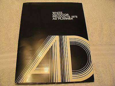 1978 White Outdoor Products Ad Planner Dealer Only Item! NICE!