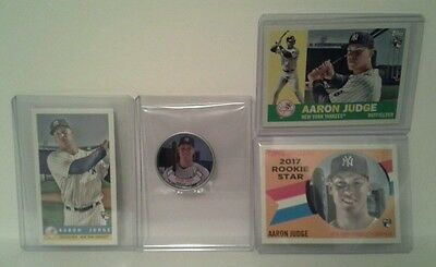 2017 Topps Archives Aaron Judge Rookie Card Lot - 3 cards & 1 coin