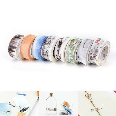 Chinese Style 15mm×7M DIY Paper Sticky Adhesive Sticker Decorative Washi Tape BD