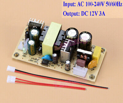 AC 100-240V To DC 12V 3A Buck Converter Isolated Step Down Power Supply Board