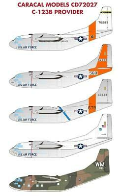 Caracal Models 1/72 decal CD72027 - C-123B Provider for Roden kit