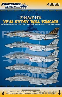 Fightertown 1/48 decals F-14A F-14B VF-32 Gypsy Roll Tomcats for Hasegawa