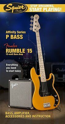 Squier SDSP Affinity P Bass Pack With 15G Amp | BTB