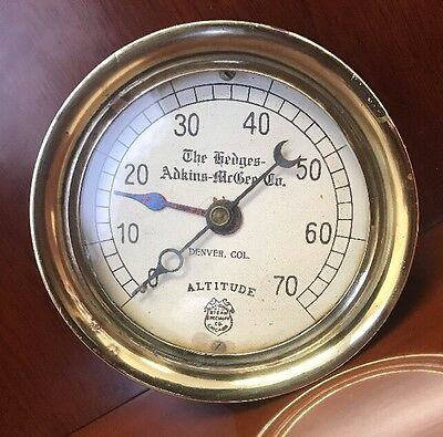 Vintage National Steam Specialty Co Chicago Steam Gage