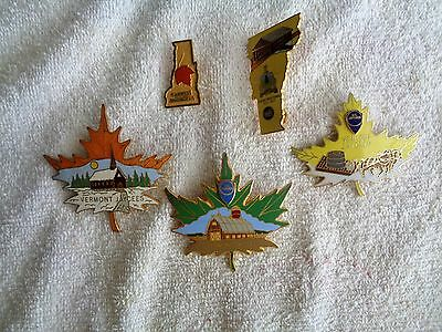 Five Vermont Jaycees---Three Beautiful Vermont Maple Leafs and two state outline