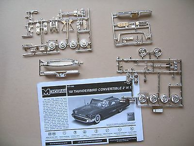 58' Ford Thunderbird Convertible Chrome Parts 1/25 Scale