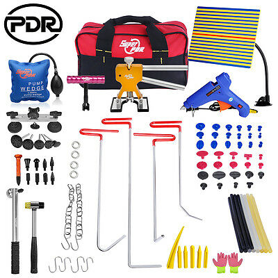PDR Push Rods Tools Dent Puller Lifter Paintless Hail Repair Damage Removal 96pc