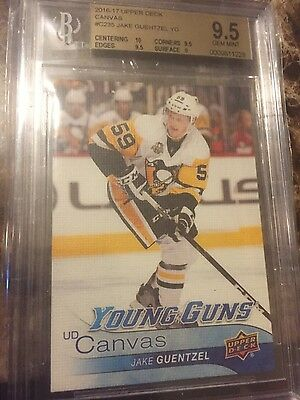 2016/17 Upper Deck Young Guns Canvas Jake Guentzel RC GRADED9.5 WOW