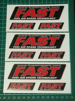 FAST racing decals stickers nhra nhrda drags diesel offroad hotrods nmca bitd