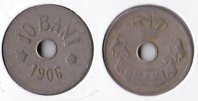 1906 Romania 10 bani coin