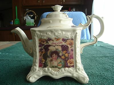 Elegant Coca Cola Limited Edition Collectible Teapot of Fine Ceramic of England