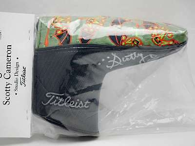 New SCOTTY CAMERON Patchwork LIMITED Putter Headcover autographed