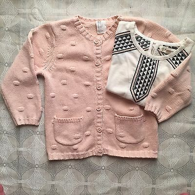 H&M Girls Sweater and Tucker + Tate T-Shirt Bundle Size 2T