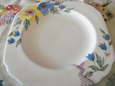 VINTAGE PLANT TUSCAN CHINA FLORAL - Side Plate - Made In England