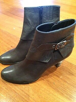 Wittner Ankle Boots *NEW* Grey Size 38 RRP $189.95