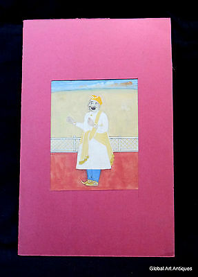 Rare Hand Painted Fine Decorative Collectible Indian Miniature Painting. G77-36