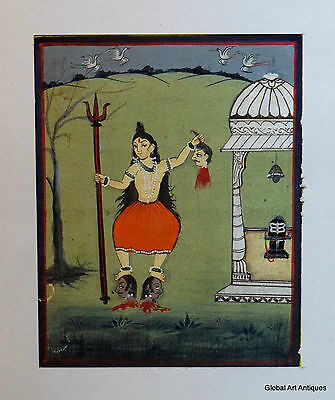 Rare Hand Painted Fine Decorative Collectible Indian Miniature Painting. G77-20