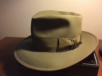 Vintage Stetson Sovereign Forest Green and Stunning Sz 7