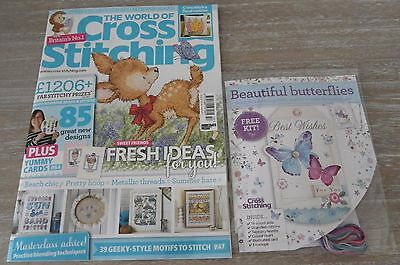 Brand New The World of Cross Stitching Magazine Issue 257 July 2017 + Free Gift!