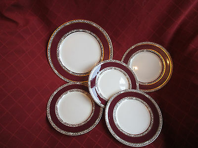 john maddock ,royal ivory set of 5 plates
