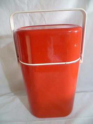 Vintage Decor Wine Bottle Cooler Red & White Chiller Carrier for 2 Bottles Retro