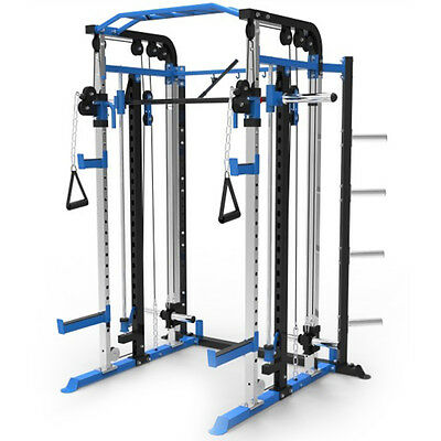 Functional Trainer w/ Cable Crossover Smith Machine Power Rack Pulley 180PT