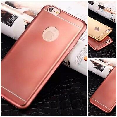 New Luxury Glossy Rosegold Soft TPU Rubber Bumper Case For iPhone 6 Plus {rl57