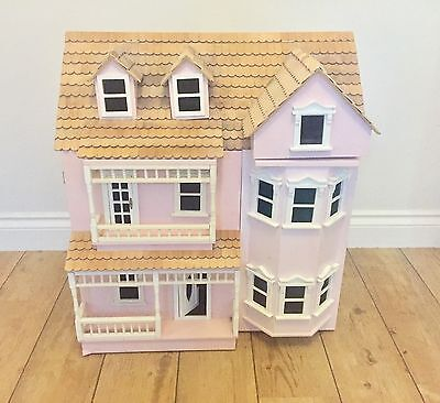 Vintage Pink Girls Wooden Dolls House, Great Project!