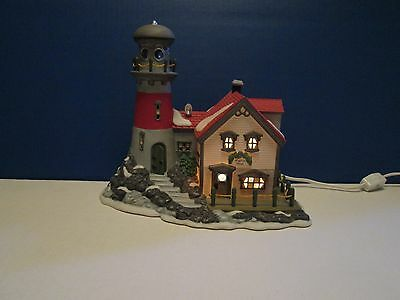"""1994 Dept. 56 New England Village """"Pigeonhead Lighthouse"""" With Box - Retired"""