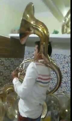 "Sousaphone 16""bell Size  Brand New Of Pure Brass Polish + Free Case & Mouthpc"