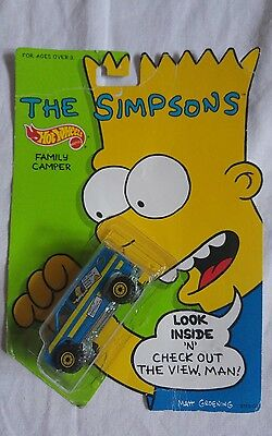 The Simpsons HotWheels Family Camper New in packaging Mattel RARE 1990's