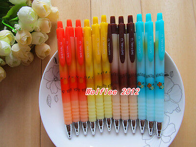 12pcs M&G Cute 0.35mm retractable Gel ink Pen,Black ink,WF120