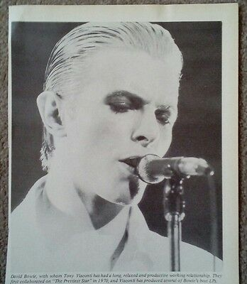 """DAVID BOWIE - ORIGINAL + RARE PICTURE Approx. 8"""" by 6"""""""