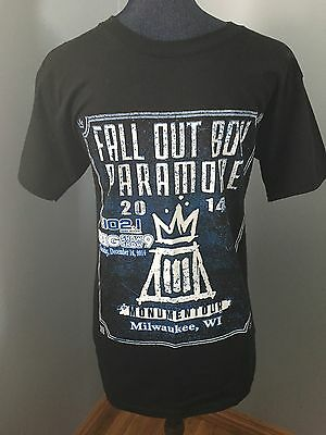 Fall Out Boy Paramore Walk The Moon Concert T Shirt 2014 Monument Tour Size S