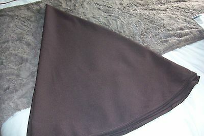 PLAIN BROWN  FABRIC ROUND TABLECLOTH - SIZE  174 cm in DIAMETER