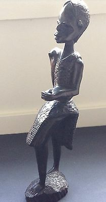 Pacific Oceania Tribal Art Carved Wood Woman Spear Missing