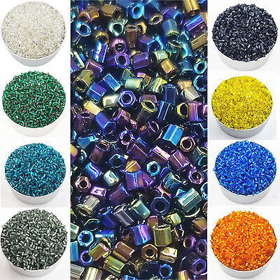 Hot 2mm 1000PCS/Pack Cylindrical Glass Loose Beads Fashion DIY Jewelry Making
