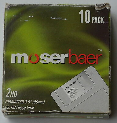 "10 x 3.5"" (90mm) DS/HD MOSERBAER FLOPPY DISCS"