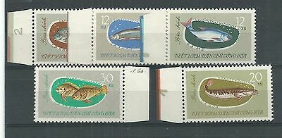 Viet Nam 1963 Fish Set Mnh**