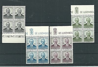 Luxembourg 1951 Charity In Mnh* Blocks Cv £200