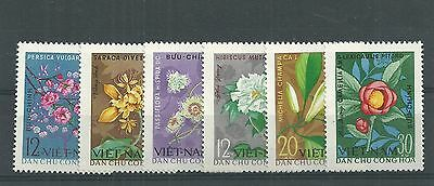 Viet Nam 1964 Flowers Set Mnh**