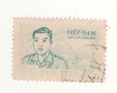 1956 North VIETNAM 20d Green & turquoise CU CHINH LAN Comm. stamp SG#NO50  USED
