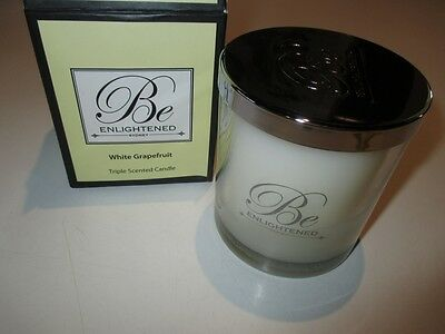 White Grapefruit  XL 80 hour Triple Scented soy wax candle by 'Be Enlightened'