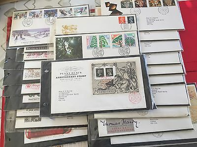 HUGE SELECTION OF 54 ASSORTED FIRST DAY COVERS FROM 1980s TO 1990s