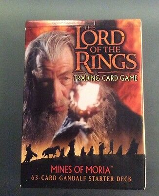 LORD OF THE Rings Mines Of Moria Gandalf, Starter Deck Sealed