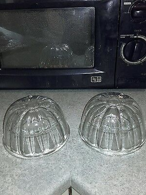 2 Small Glass Vintage Jelly Moulds