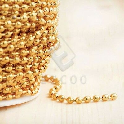 4m Unfinished Bulk Chains Necklace DIY Wholesale Gold Ball Chain 2.4x2.4mm CA