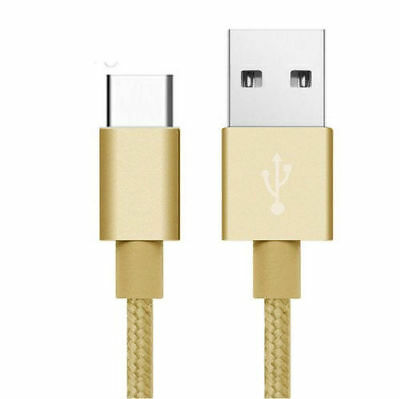 Strong Braided Nylon Fast USB C 3.0 Type C Data Sync Charger Charging Cable UK
