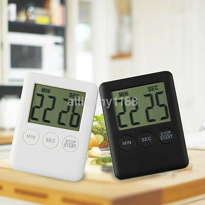 Large LCD Digital Kitchen Cooking Timer Count-Down Clock Loud Alarm Magnetic UK
